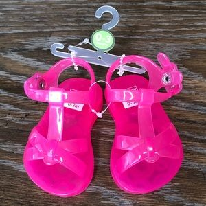 Pink Jellies Sandals Snap Close Baby Girl Carters